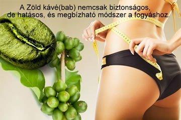 Zöld kávébab fogyás elősegítő